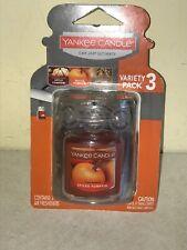 Autumn Wreath 3-Pack Car Jars Yankee Candle Apple Pumpkin Spiced Pumpkin