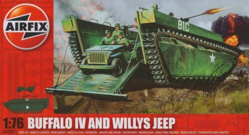 Airfix Buffalo IV and Willys Jeep 176 Item A02302 Solid and Vehicle