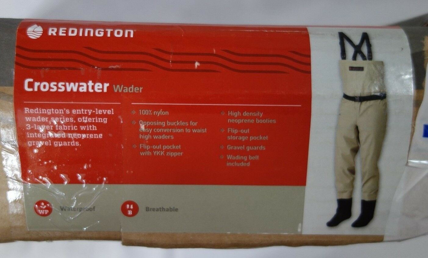 REDINGTON CROSSWATER WADER LARGE fishing waterproof breathable 3-layer Large
