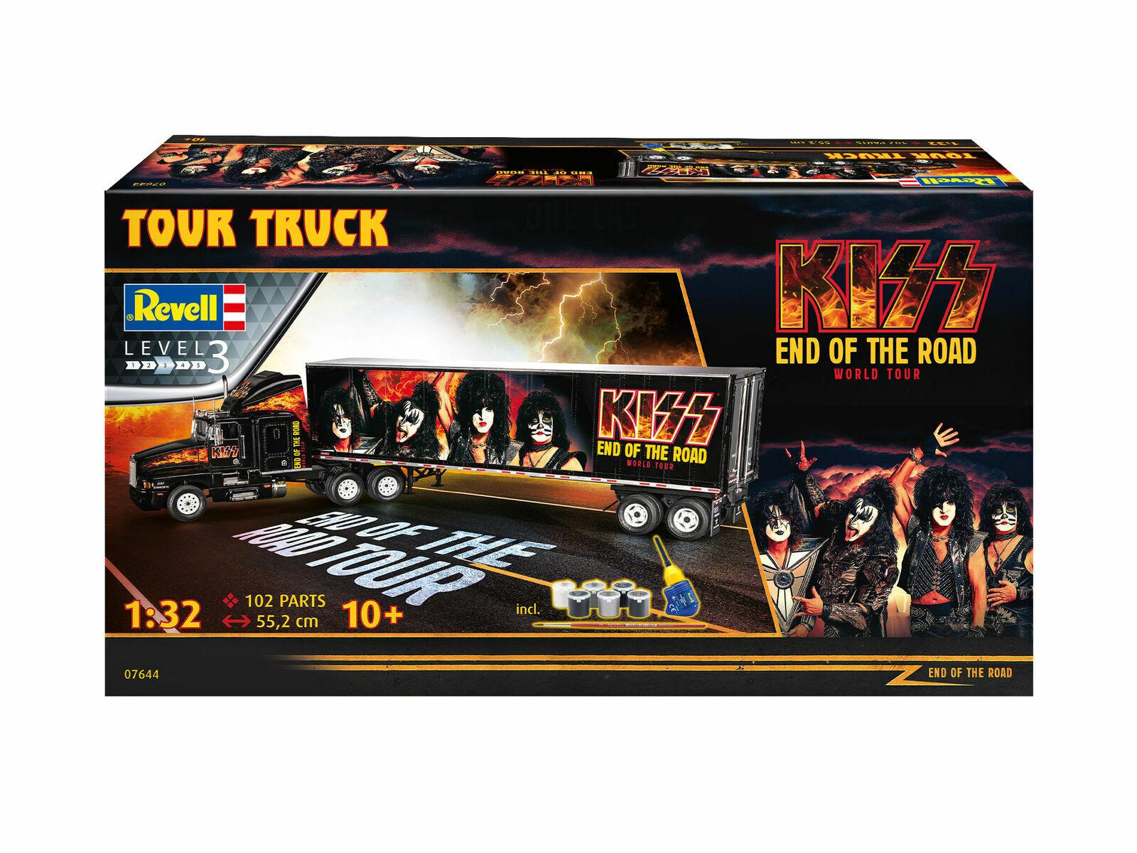 KISS Tour Truck 1 32 Scale Niveau 3 Revell model Kit