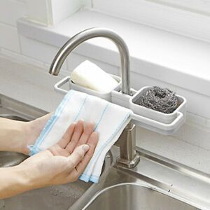 HomeKitchen-Bathroom-Sponge-Sink-Tidy-Holder-Tap-Storage-Rack-Strainer-Organizer