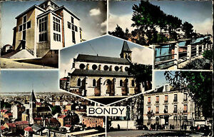 Bondy-Frankreich-CPA-Mehrbild-AK-1960-70-L-039-eglise-La-mairie-Le-canal-u-a