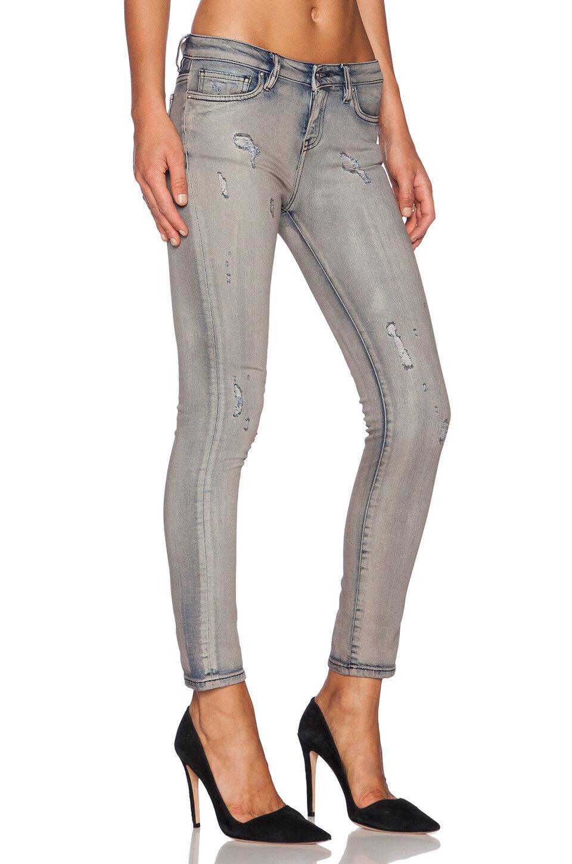 395 Authentic Rare IRO Women's Nediva Distressed Faded Ankle Super Skinny Jeans