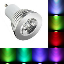 Remote Control Colour Changing RGB LED Light Bulb DIMMABLE 4x Bulbs GU10 3W
