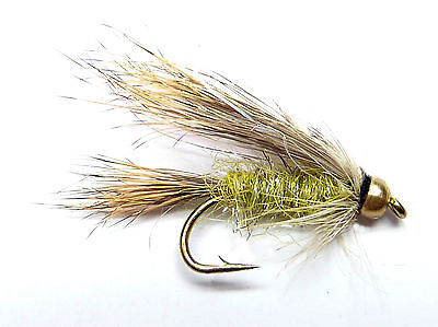 3x, 6x or 12x Fly Fishing Trout Flies (KPM81) GOLDHEAD HUMBUG NYMPH  Trout Fly
