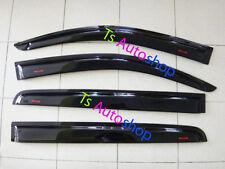 4 DOOR BLACK VISOR WEATHER GUARD WINDSHIELD FOR ISUZU MU-X 2014 SUV