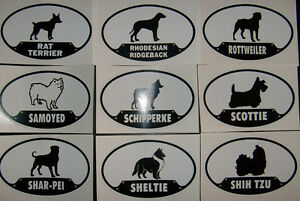 Dog-Stickers-USA-Seller-Popular-amp-unique-breeds-3-5-034-x-5-5-034-Decal-Large-S-Z