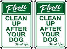 (2 Pack) PLEASE PICK UP AFTER YOUR DOG - No Dog Poop Sign