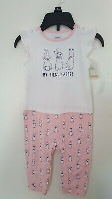 Nwt Gymboree Peter Rabbit Pink Romper Baby Girl My First Easter Outfit 12-18 M