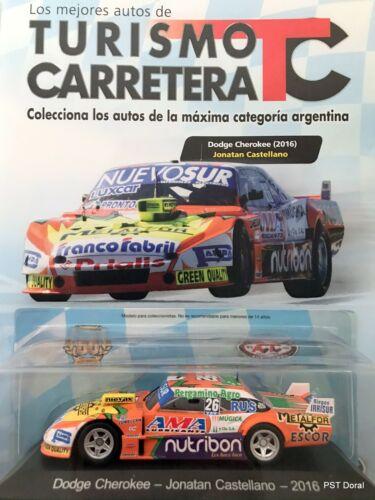 Dodge 2016 de Jonatan Castellano Diecast 1:43 Turismo Carretera Argentina