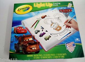 Crayola Disney Pixar Cars 2 Light Up Tracing Desk Kit