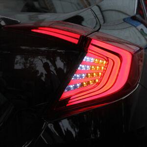 LED Car Rear Tail Light DRL Brake Turn Signal Kit For Honda Civic Sedan 2016-19