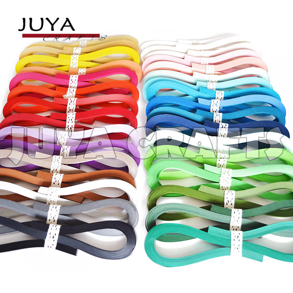 JUYA Tant Paper Quilling Set 1280 Strips 32 Colors 39cm Length//strips Paper Width 5mm
