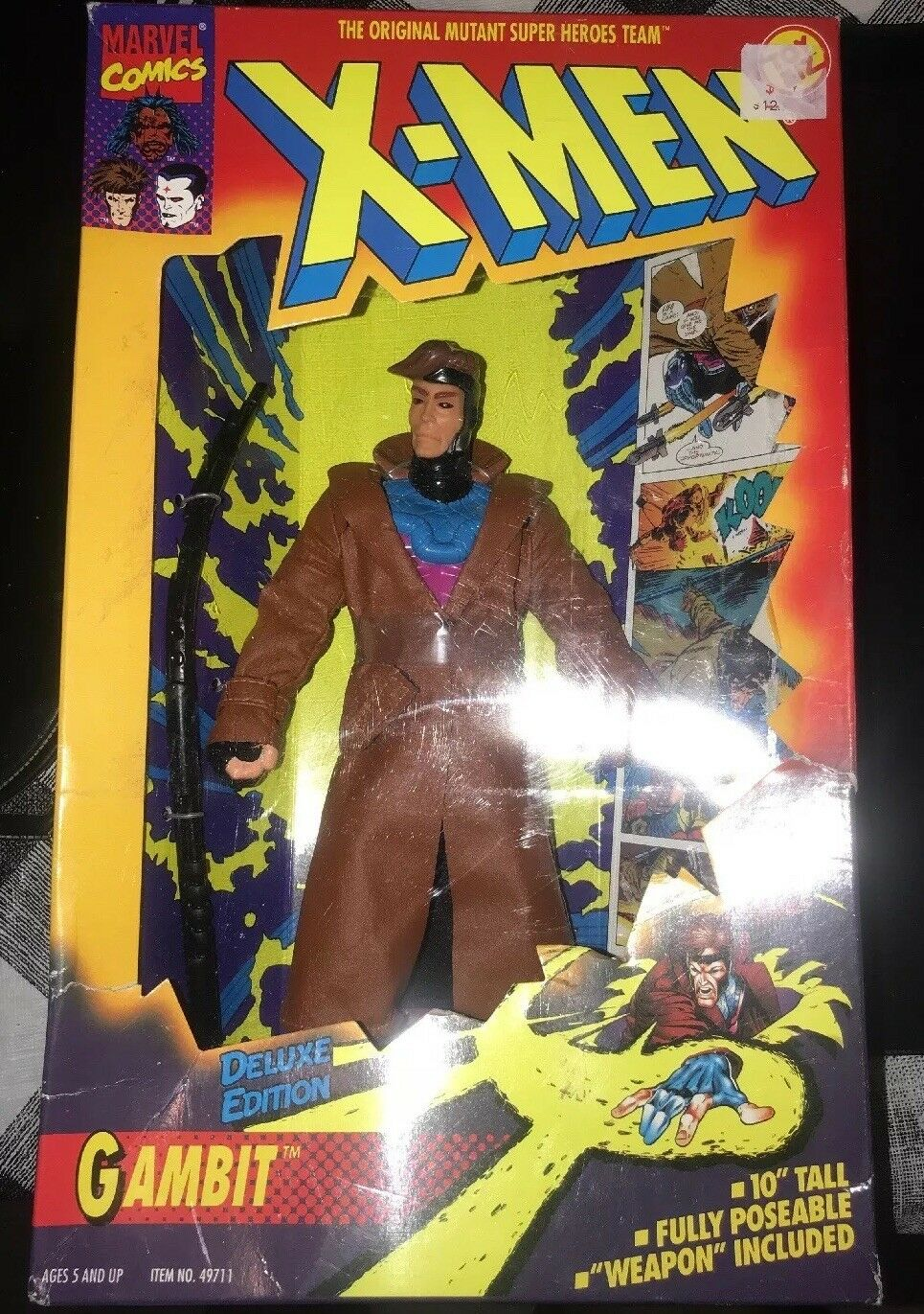 X-Men Gambit 10  Deluxe Edition Marvel 1994 1994 1994 Toy Biz New In Box 8e04d7