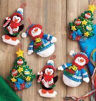 Bucilla Trimming The Tree Ornaments Felt Kit