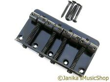 4 string electric bass black guitar bridge jazz or precision type 19mm spacing