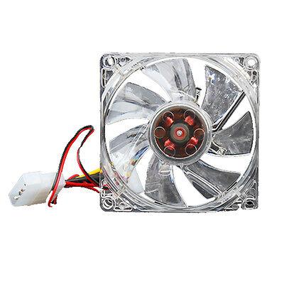 Quiet Desktop PC Case Fan Cooling 4 LEDs New 80mm