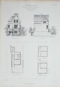 1868-Architektonisch-Aufdruck-Worcester-Lodge-Middleton-Road-Holloway-amp-Truefitt