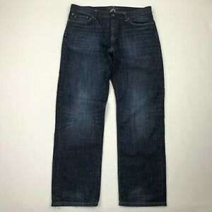 Tommy-Hilfiger-Men-Custom-Straight-Dark-Wash-Jeans-sz-33x30-Actual-35-034-W