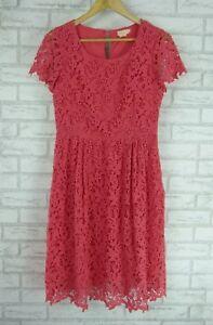 COLLETTE-BY-COLLETTE-DINNIGAN-Dress-Sz-S-10-Peach-lace-cotton-event