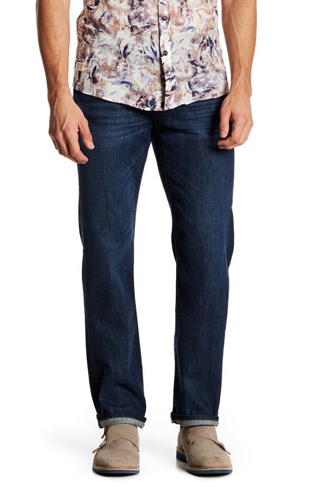 7 For All Mankind Standard Straight Leg Denim Jeans, Dark wash, 38X34,  NWOT