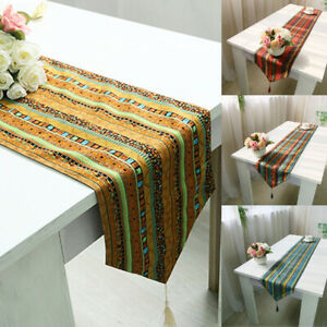 Ethnic-Style-Table-Runner-Flag-Tablecloth-Home-Dinning-Table-Deco-Cotton-Linen