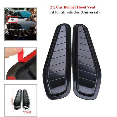 White Auto Car Air Flow Intake Hoods Scoop Bonnet Vent Hood Covers Modification