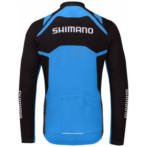 Mens Cycling Jersey Jacket Shimano Bike MTB Tight Shirt Team Top Winter Fleece