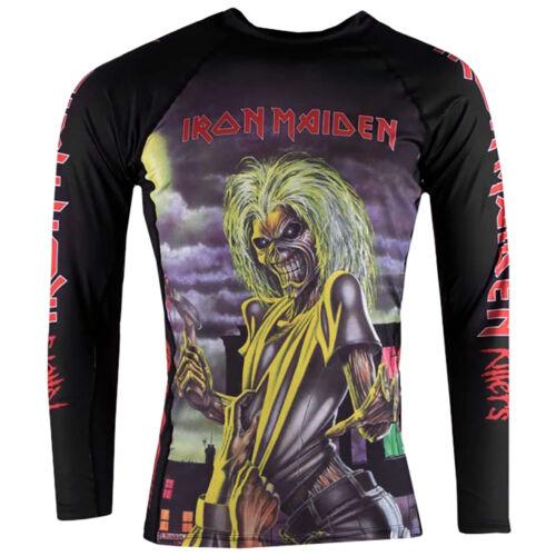 Tatami Kid/'s x Iron Maiden Killers Long Sleeve BJJ Rashguard Black