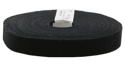 Eco Scratch 10m Roll of Hook & Loop Cable Tie, Dark Black, 3P Cabling, PatchGrip
