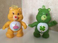 Vintage 1985 Care Bears Wish & Birthday Bear Posable Figure Figurine Toys