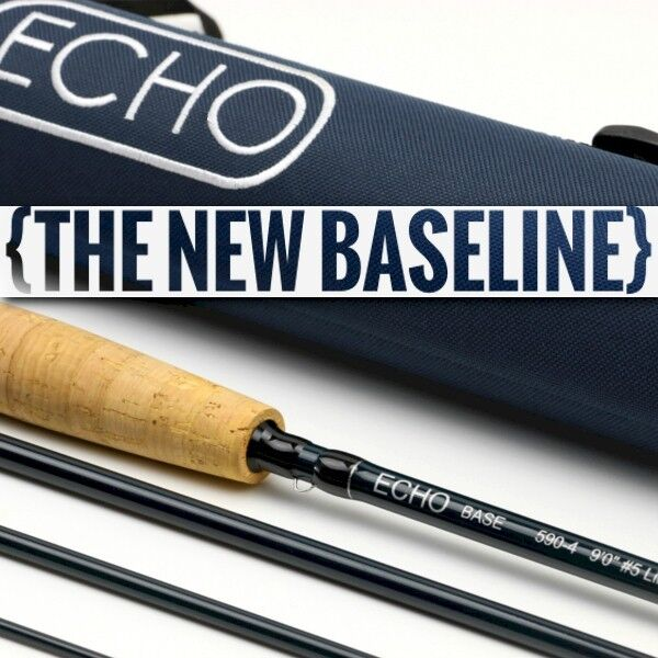 ECHO BASE 890-4 9' FOOT WEIGHT 4 PIECE FLY ROD + TUBE, FREE U.S. SHIPPING