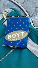 New Boyt Garment Bag Green Canvas & Leather USA Quality NWT