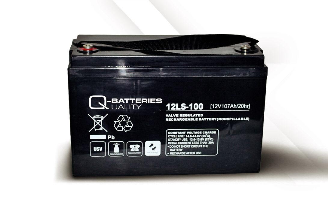 Akku Batterie Q-Batteries 107Ah 12V AGM 12LS-100 für USV Security IT Alarm