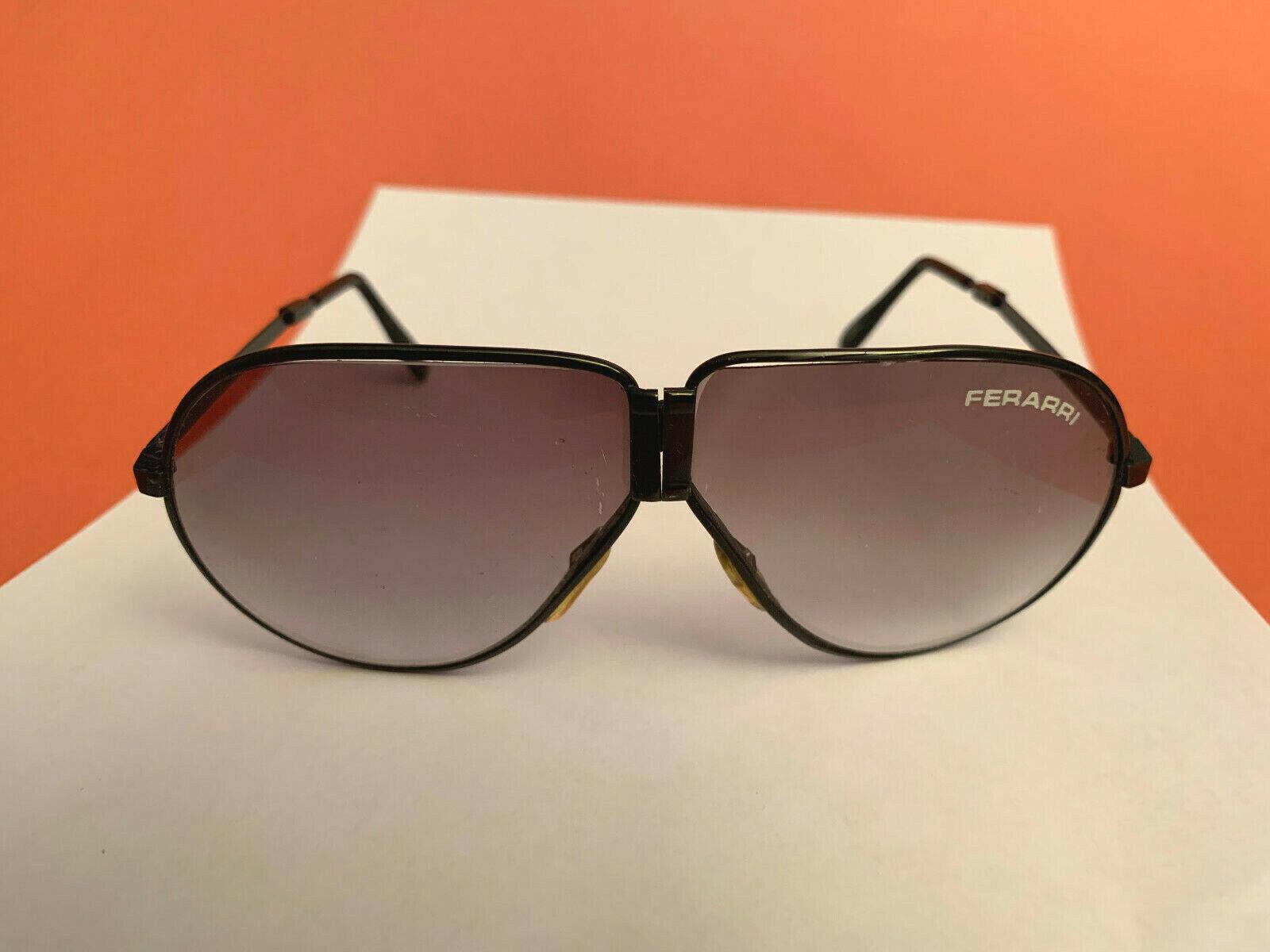 Vintage Ferrari Folding Sunglasses With Zip Case Gem
