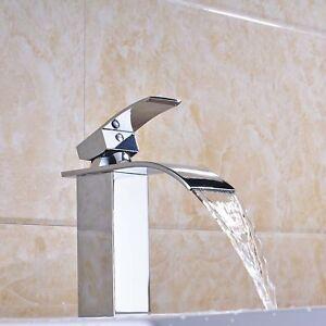 Waterfall-Spout-Bathroom-Vanity-Sink-Faucet-Basin-Mixer-Tap-Single-Handle-Hole