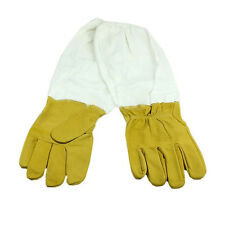 Imkerhandschuhe Ziegenleder Schutzhandschuhe Handschuhe mit Schutzärmeln 1 Paar