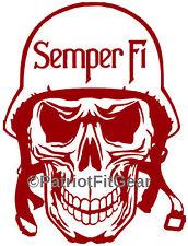 USMC,Semper Fi,Marine,Skull,Military,PatriotFitGear.com,Custom Decal,Vinyl Decal
