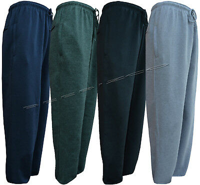 Mens Open Hem Jogging Bottom Fleece Joggers Casual Trousers 3XL-5XL By Tom Hagan