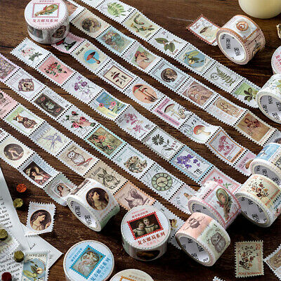Diary Label Die-cut Tape Vintage Stamp  Paper Stickers Post Office Series