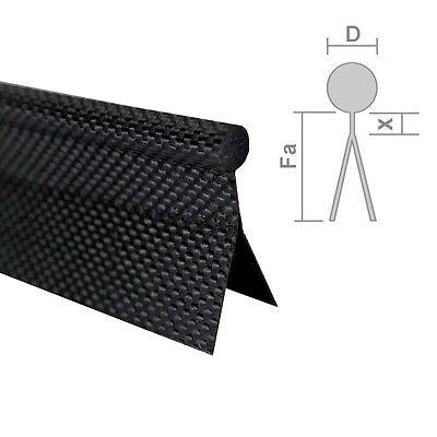 (€1,90/m) Zeltkeder Leicht, Zweifahnig Meterware D=7,5mm Schwarz/weiß Keder Pvc VerrüCkter Preis