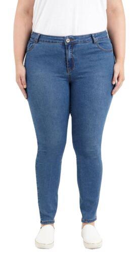 New Ladies Plus Size 5 Pocket Denim Jeans Stretchy Skinny Trousers Pants 16-22
