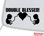 Vinyl Decal Sticker Car Window Bumper Twins Baby Babies on Board DOUBLE BLESSED