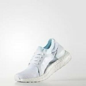 a2228fb6fd6 ADIDAS UltraBOOST X Parley Running Shoes Icey Blue White Knit BY2707 ...