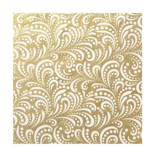 FHJ-17636 C.R Gibson Gold Gift Wrap