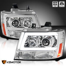 For 2007 2014 Chevy Suburban Tahoe Avalanche Led Strip Tube Projector Headlights Fits 2007 Chevrolet Suburban 1500