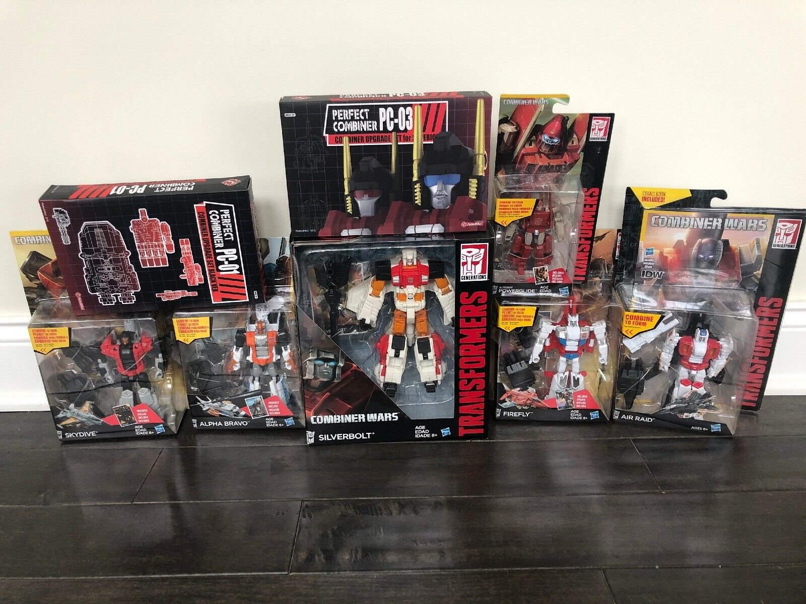 New 2015 Hasbro Transformers Generations Combiner Wars Autobot Superion 8 Items