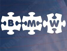 BMW JIGSAW Novelty Car/Window/Bumper/Motorcycle/Laptop Vinyl Stickers/Decals