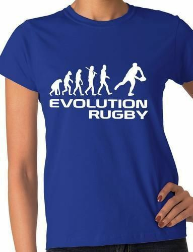 Evolution of Rugby Sport Ladies T-Shirt Gift  Size S-XXL