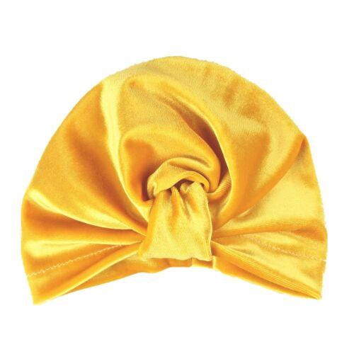 Toddler Baby Soft Velvet Winter Hat Indian Turban Cap Bohemia Warm Head Wrap
